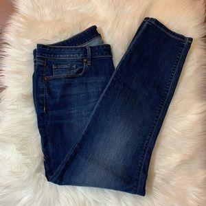 LOFT Mid Wash Curvy Skinny Jeans Size 14